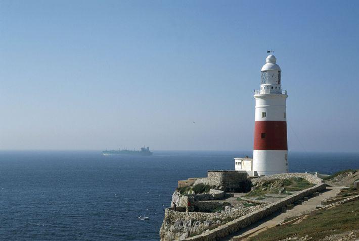 Imagem do farol em Gibraltar.