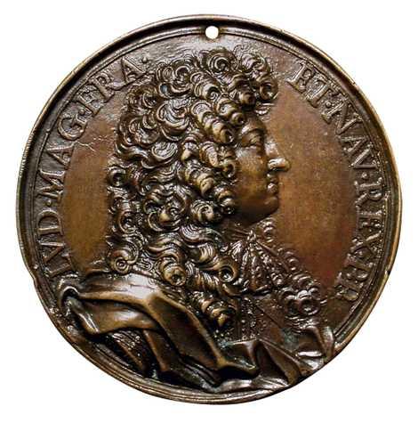 Medalha de bronze com o Rei Luís XIV