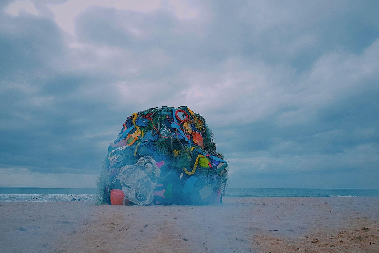 One Strange Rock por Bordalo II