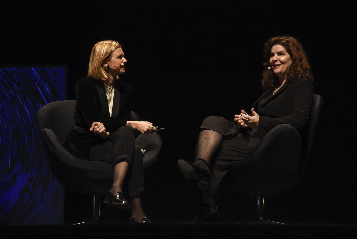 Mariana van Zeller e Susana Carvalho no National Geographic Summit 2018
