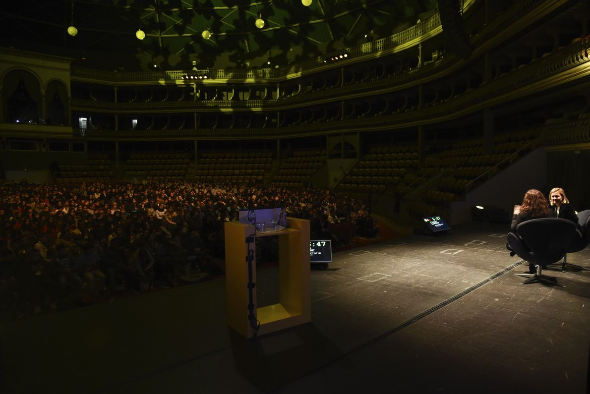 Vista geral da plateia no National Geographic Summit 2018
