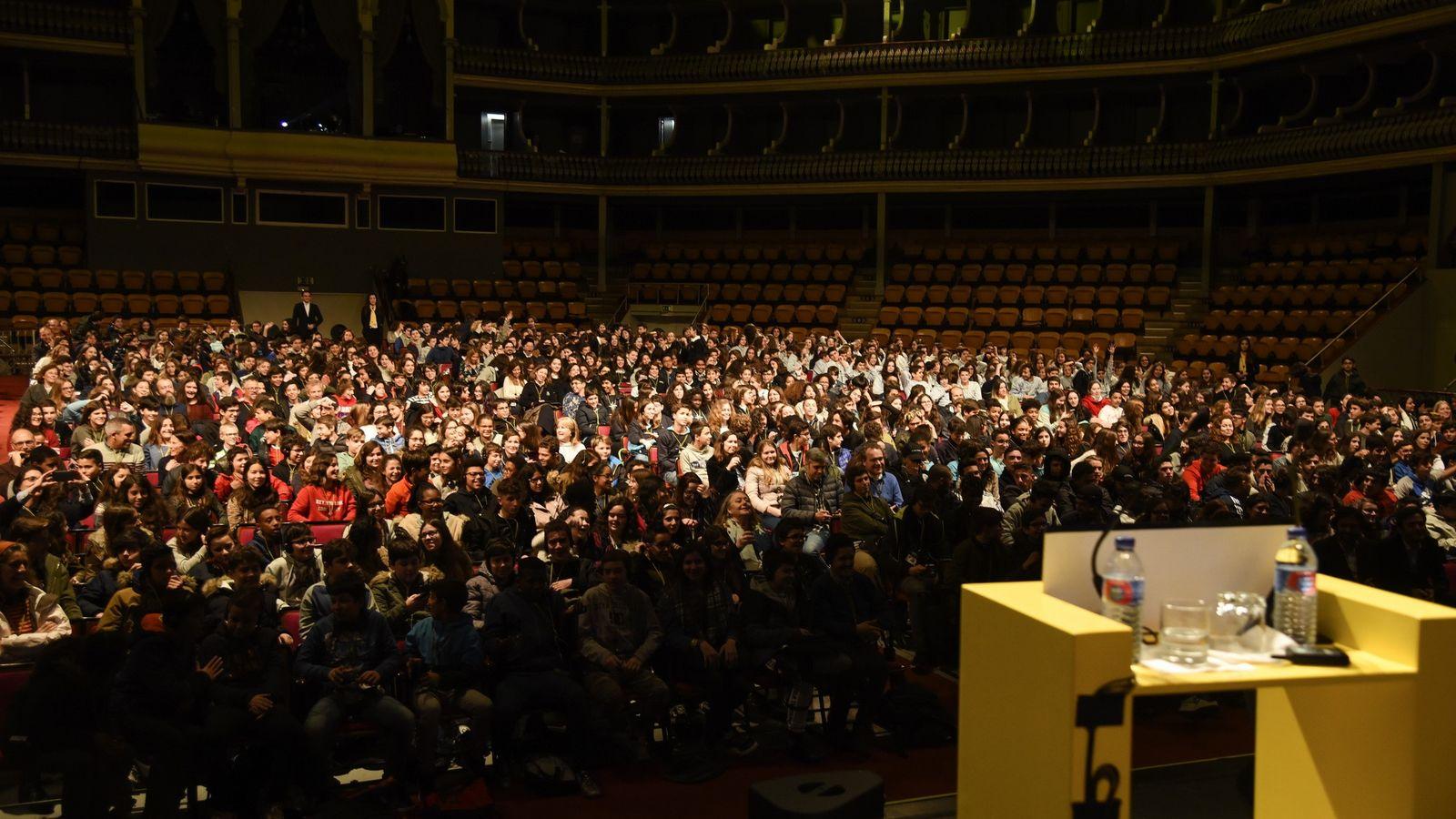 Vista geral da plateia do Coliseu dos Recreios no National Geographic Summit 2018