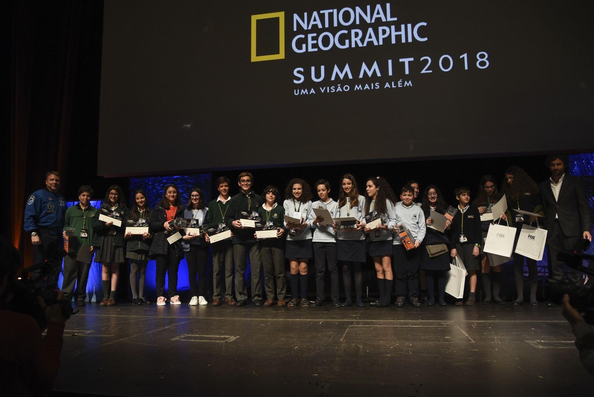 Alunos das escolas presentes no National Geographic Summit 2018