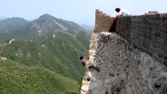 Arriscar a Vida Para Reparar a Grande Muralha da China