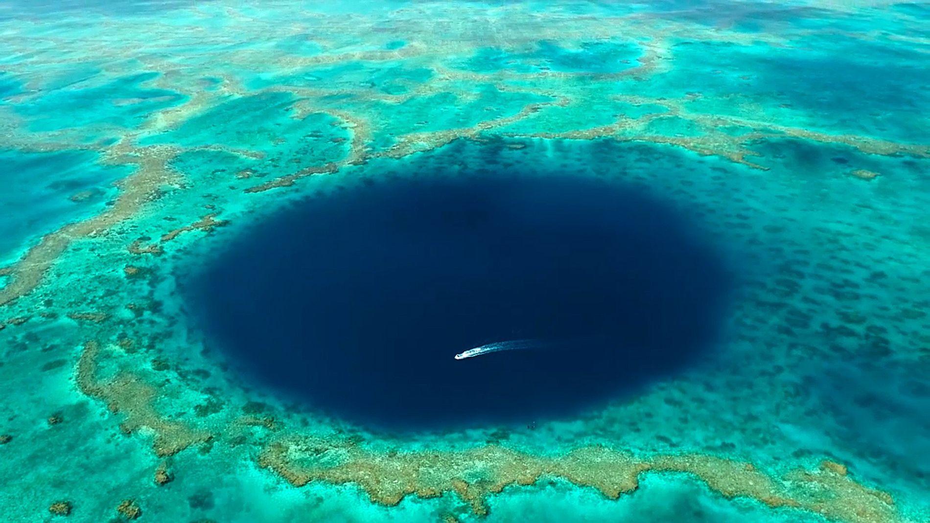 Espreite o Interior de um Misterioso Buraco Azul na Grande Barreira de Coral