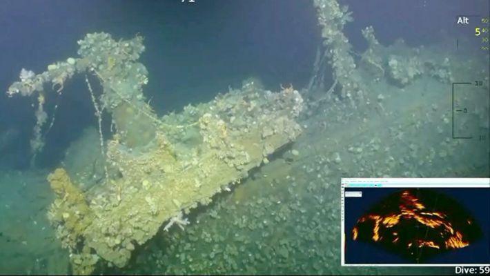 Novo Vídeo Subaquático: Este Navio De Guerra De Pearl Harbour Fez O Primeiro Disparo Americano da ...