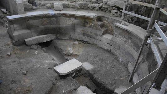 Auditório Romano Descoberto Debaixo do Muro das Lamentações em Jerusalém