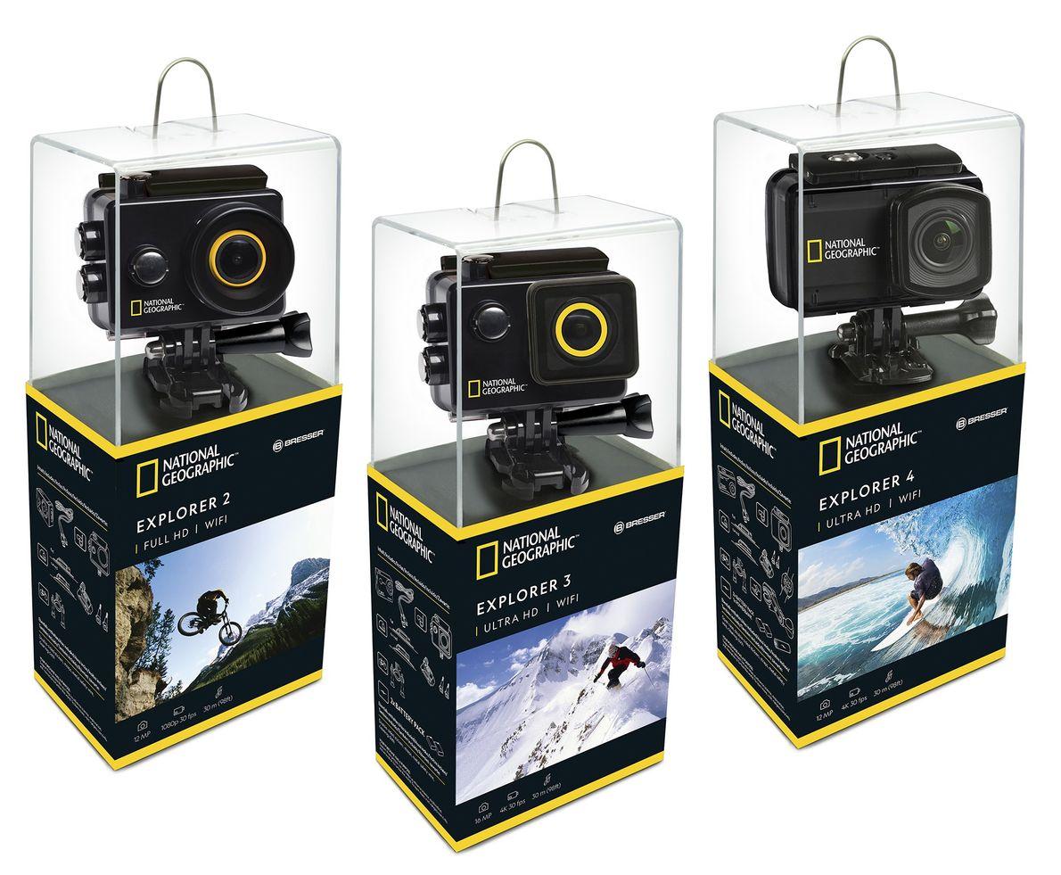 Novas Câmaras de Ação da National Geographic Já à Venda