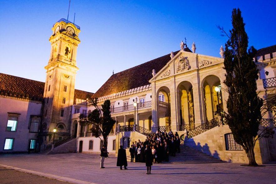 Paço Real, Coimbra, à noite