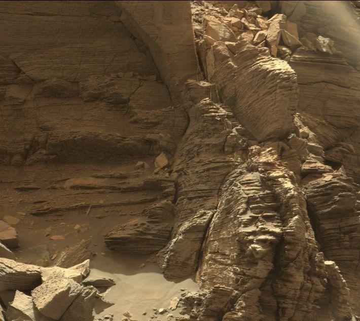 Área rochosa de Marte