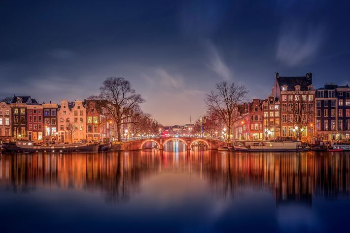 Panorâmica da cidade de Amesterdão, na Holanda