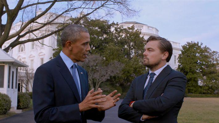 Leonardo DiCaprio debate com Barack Obama o Acordo de Paris e as consequências futuras das mudanças ...
