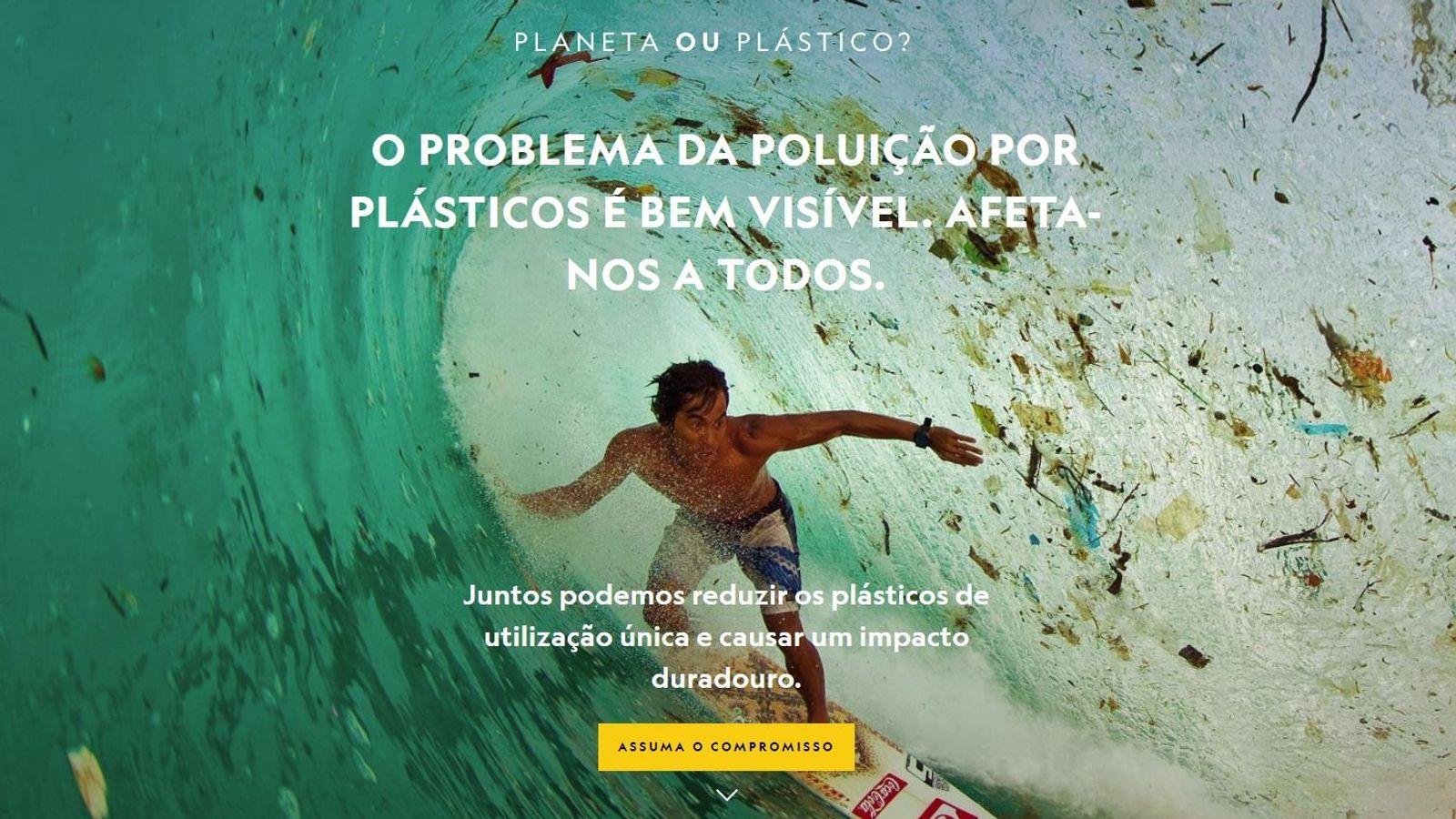 O problema da poluição por plásticos é bem visível. Assuma o compromisso