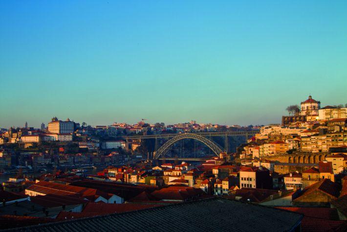 Vista de Gaia para a Ponte Luís I - Circuito Ciência Viva Porto