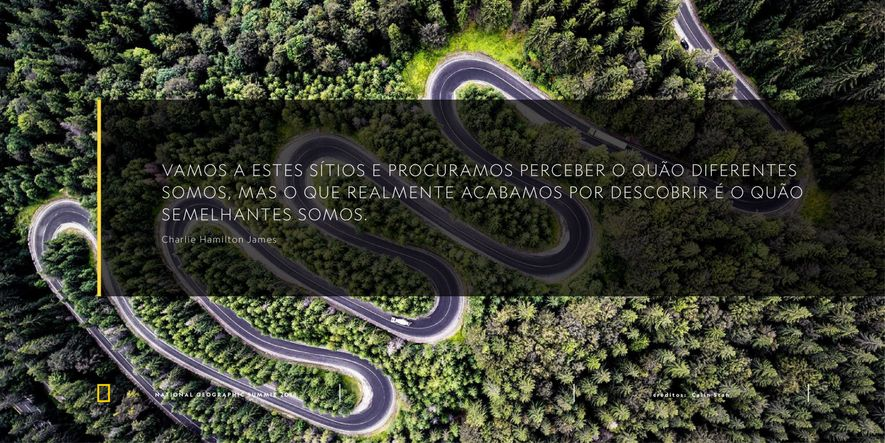 Charles Hamilton James National Geographic Summit Lisboa Quote