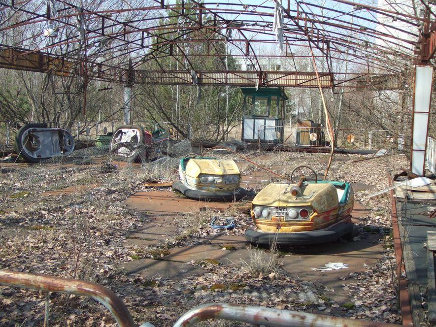 Parque de diversões abandonado.