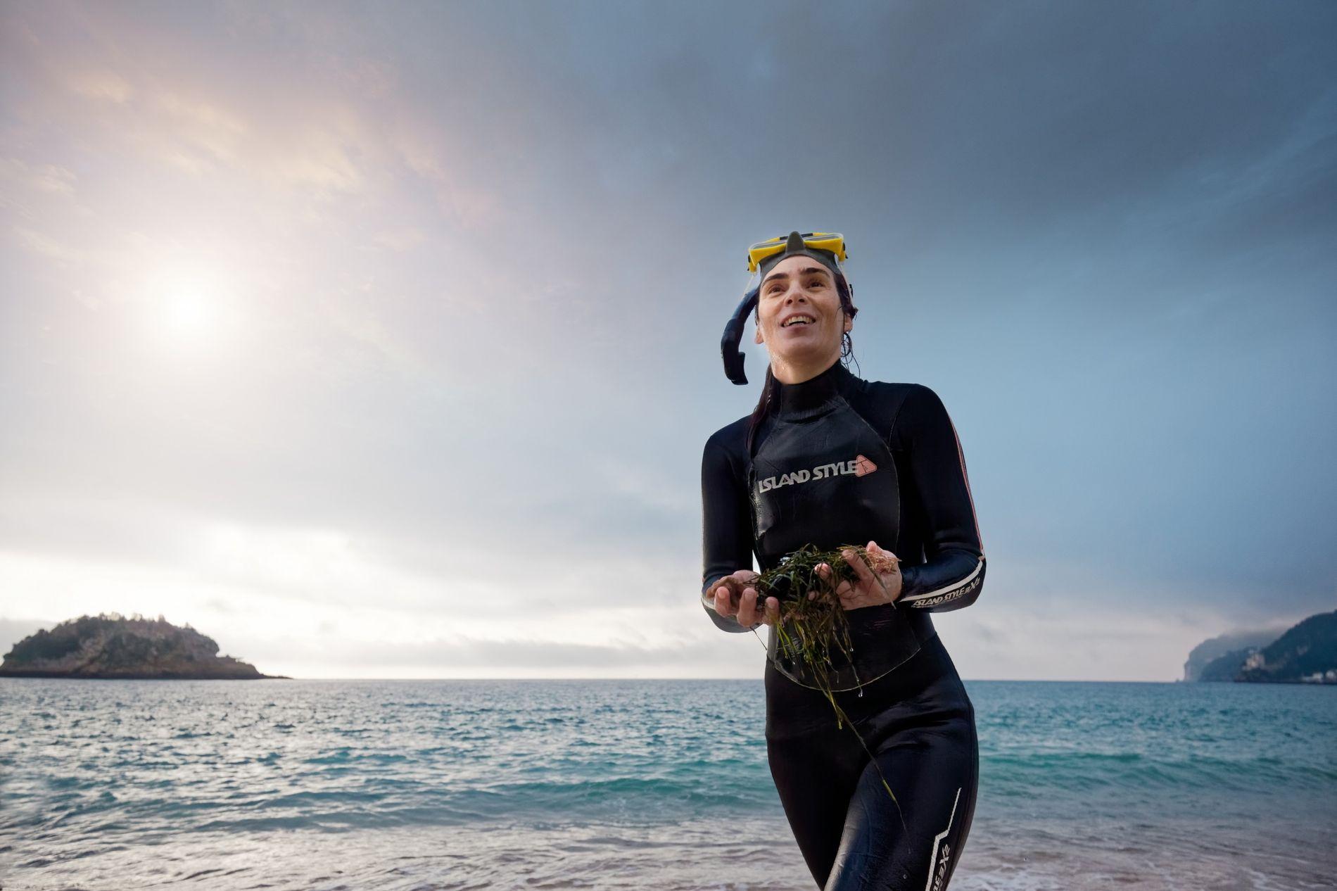 A bióloga marinha Raquel Gaspar