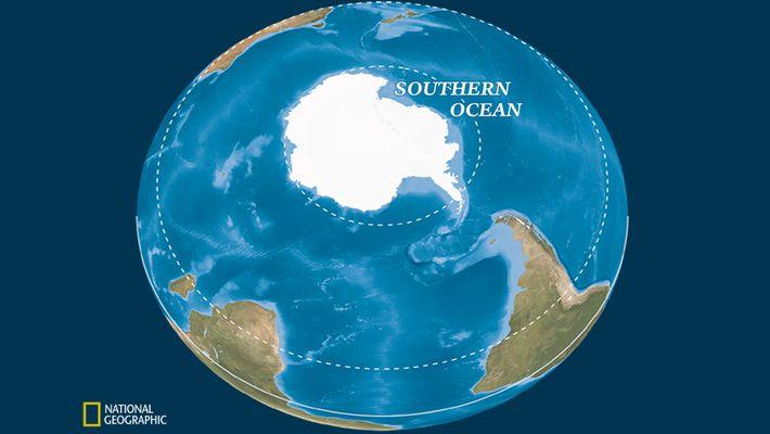 A circulação oceânica define o Oceano Antártico.
