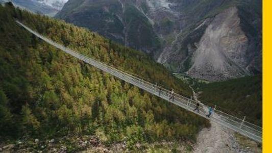 A Ponte Pedestre Suspensa Mais Longa do Mundo na Suíça