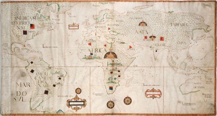 Planisfério - séculos XV a XVIII