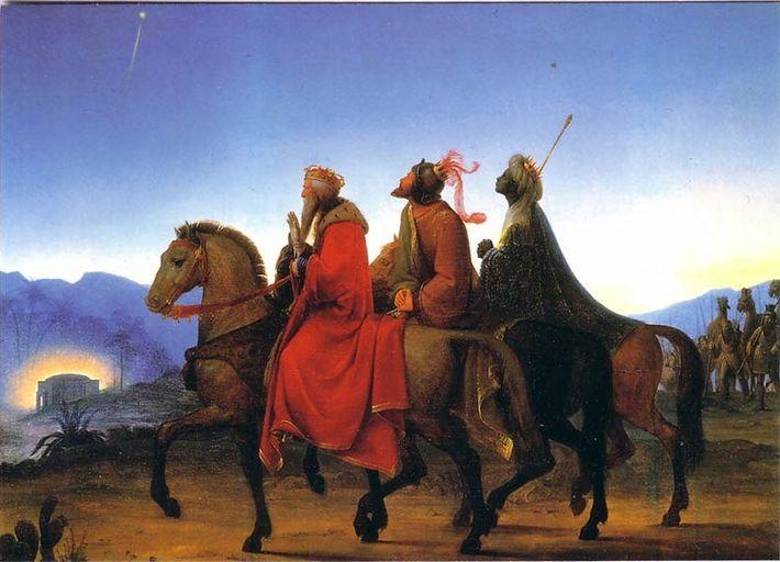 A viagem dos três Reis Magos (1825), por Leopold Kupelwieser.