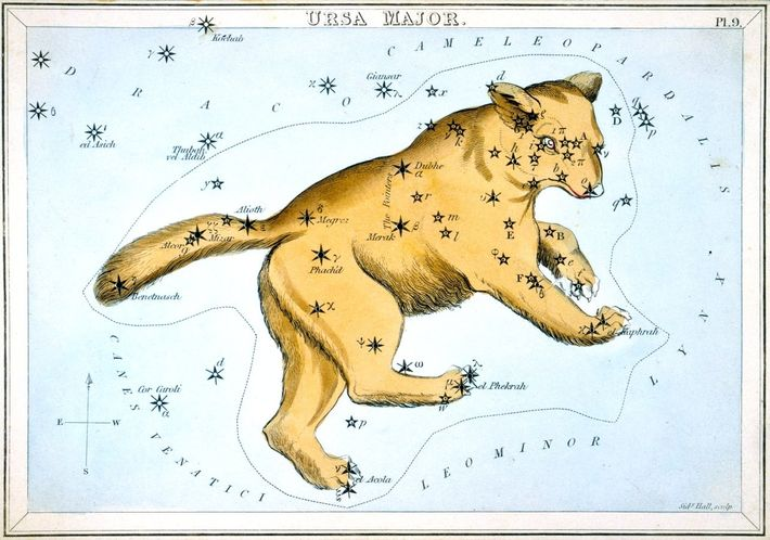 Representação da constelação Ursa Maior