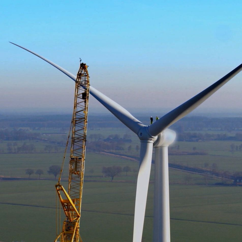 Um corajoso engenheiro de turbinas eólicas