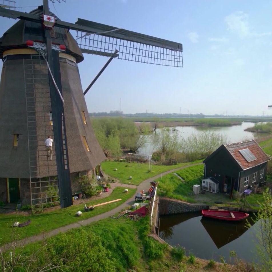 Os moinhos de vento históricos nos Países Baixos são ícones nacionais