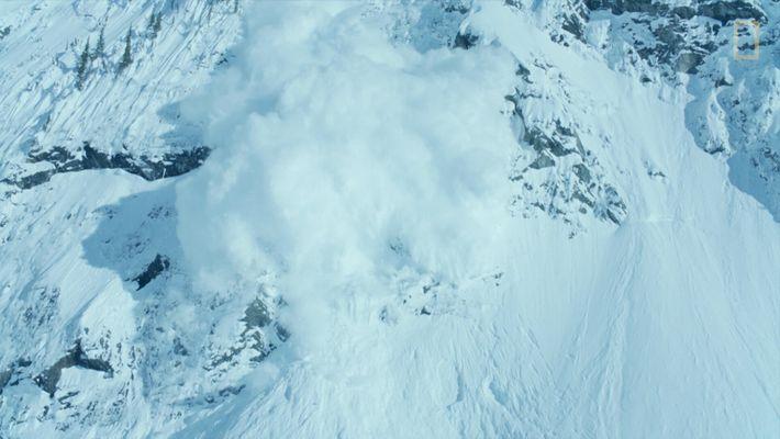 Veja Imagens hipnotizantes de Uma Avalanche.