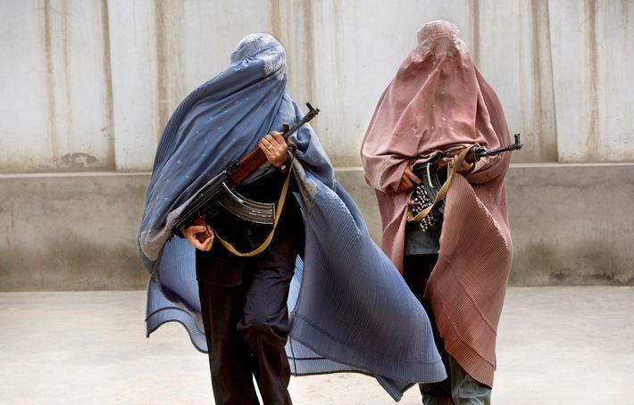 Mulheres polícia em Kandahar, no Afeganistão, em 2009.