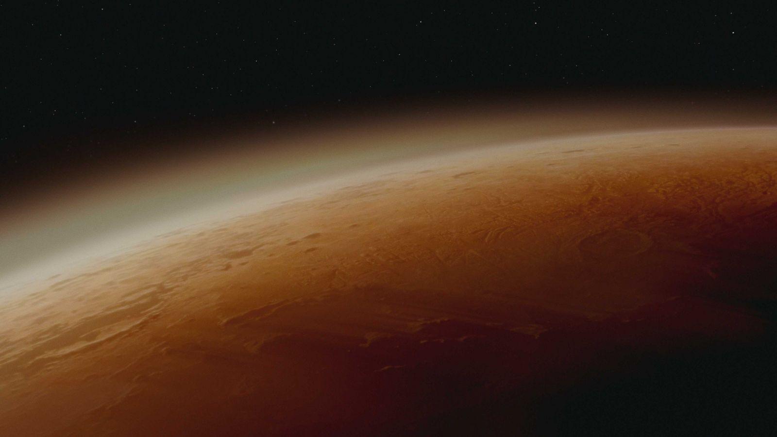 Cena de um dos novos episódios da série Marte, produzida pela National Geographic.