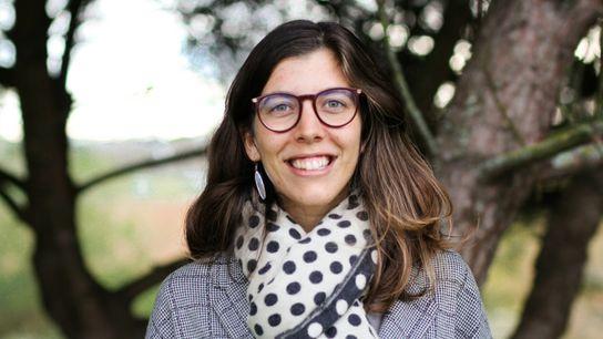A exploradora e investigadora Joana Pereira durante o seu projeto de conservação e gestão da vida ...