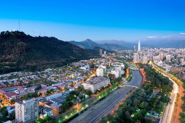 Imagem do bairro de Bellavista, em Santiago, no Chile