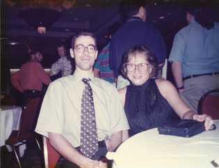 Fotografia minha com Eugenie Clark na reunião da AES em New Orleans, no ano de 1996.