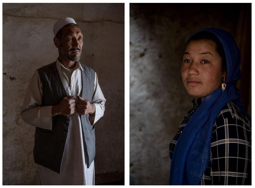 Esquerda: Abdol Zaher, 55 anos, é um líder religioso na província central de Bamiyan, no Afeganistão. ...