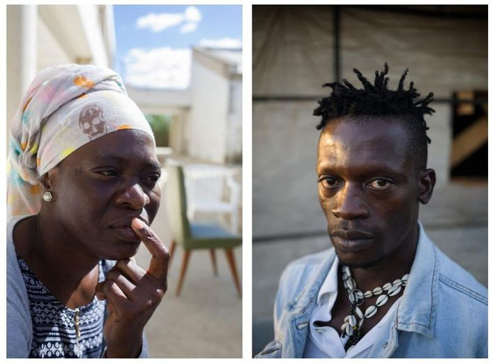 Esquerda: A travessia do Estreito de Gibraltar quase ceifou a vida a esta migrante maliana de ...