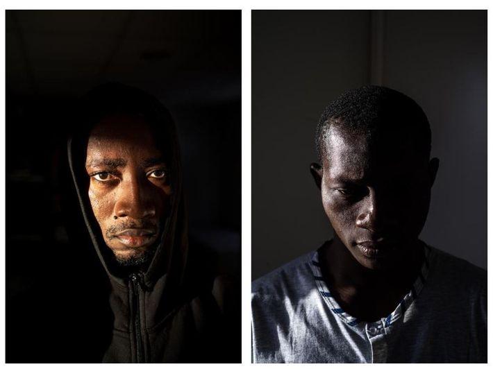 Poucos dias depois de pagarem aos contrabandistas para atravessarem o Estreito de Gibraltar, estes jovens africanos ...