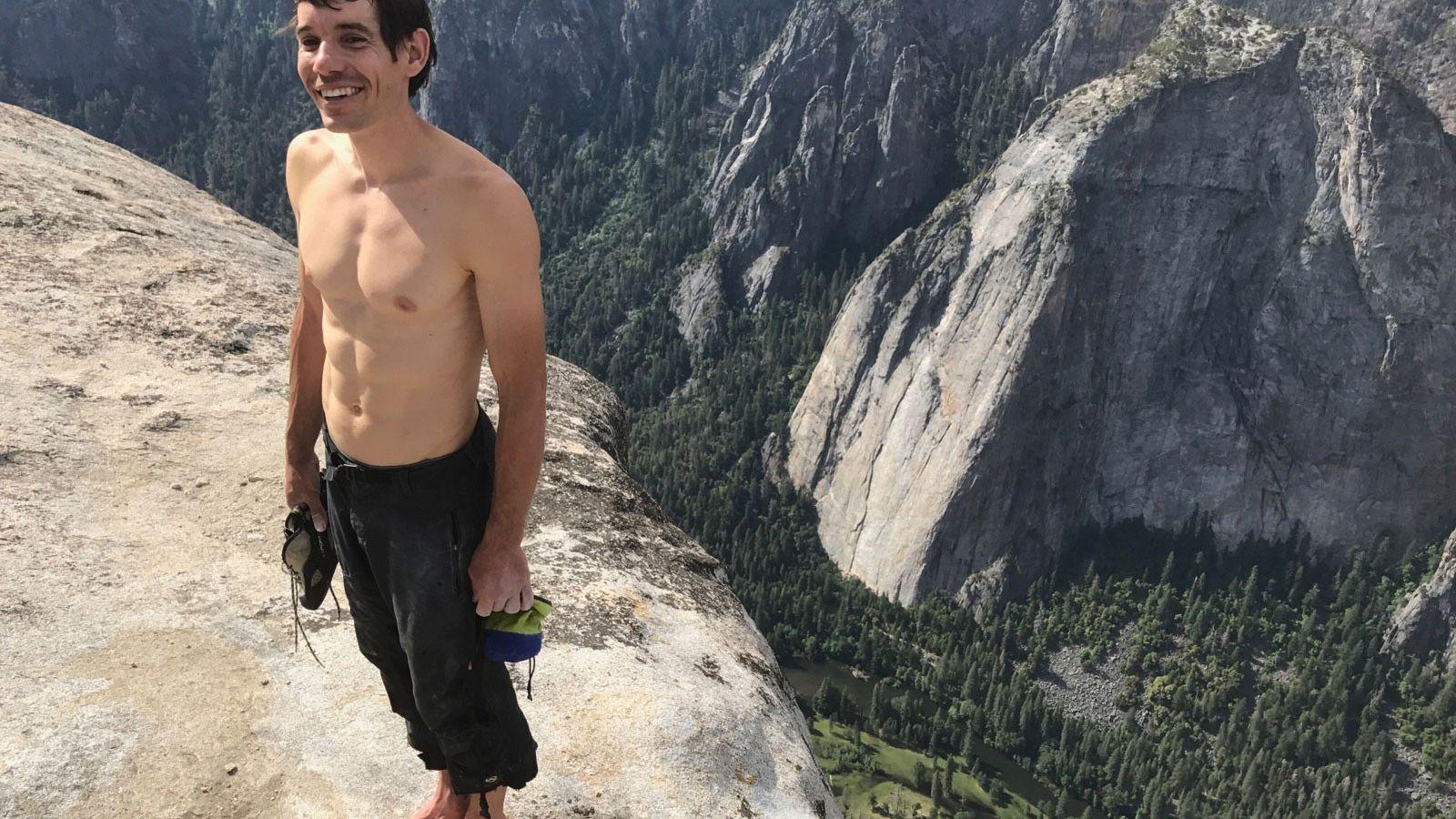 Alex Honnold, no cimo do El Capitan, Yosemite National Park