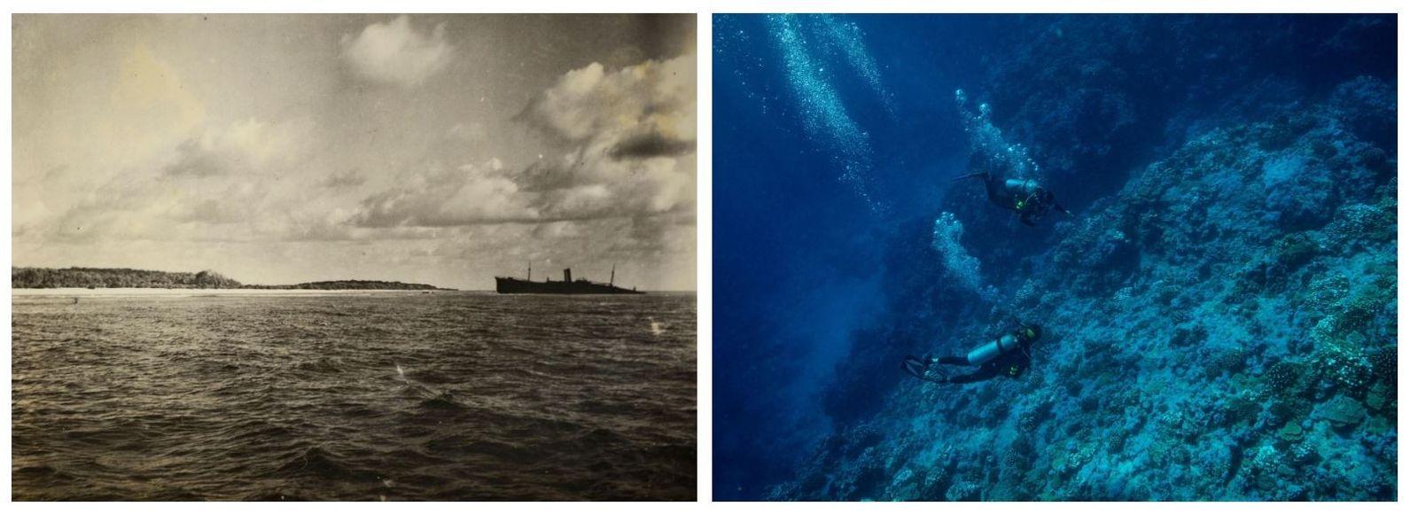 Esquerda: Analistas dos serviços secretos disseram que o objeto indistinto, à esquerda desta fotografia da Ilha ...