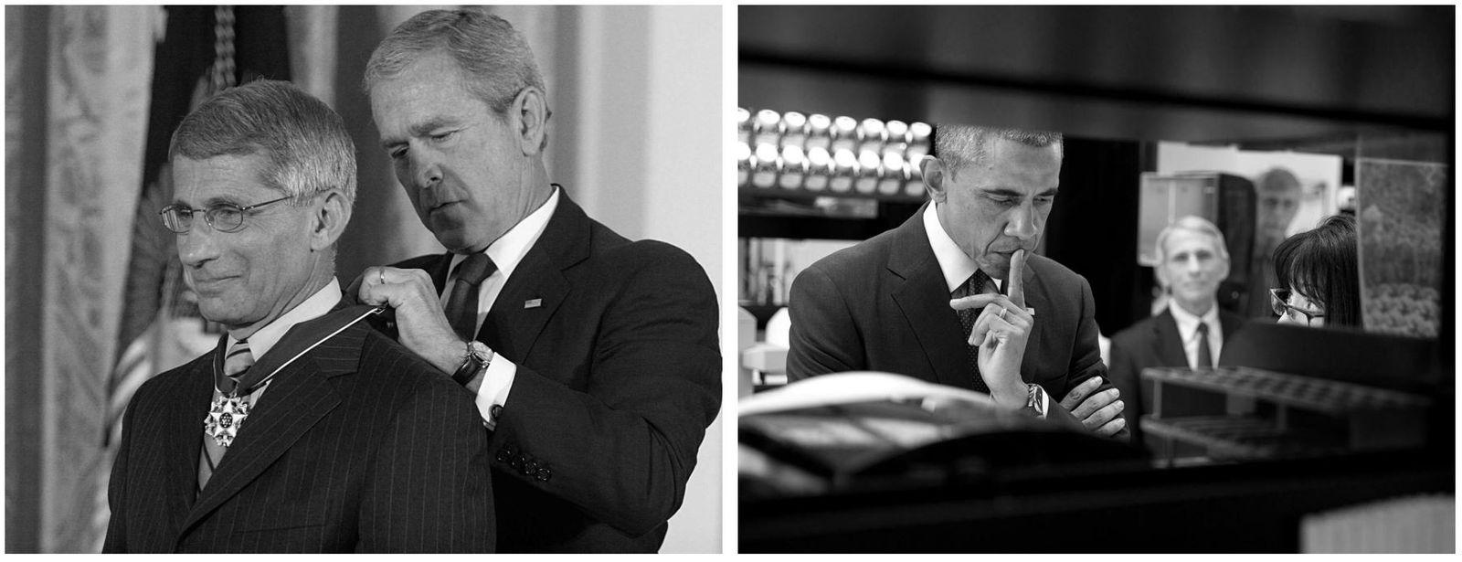 Esquerda: No dia 19 de junho de 2008, o presidente dos EUA, George W. Bush, entregava ...