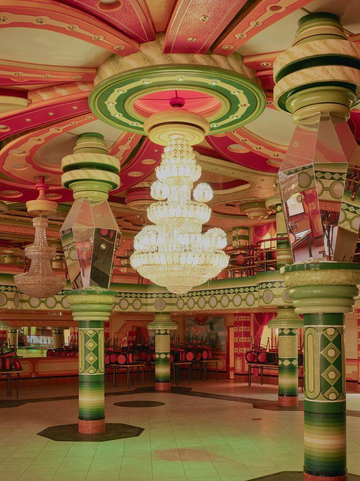Os interiores dos edifícios de Mamani.
