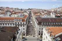 Vista da Rua Augusta, em Lisboa
