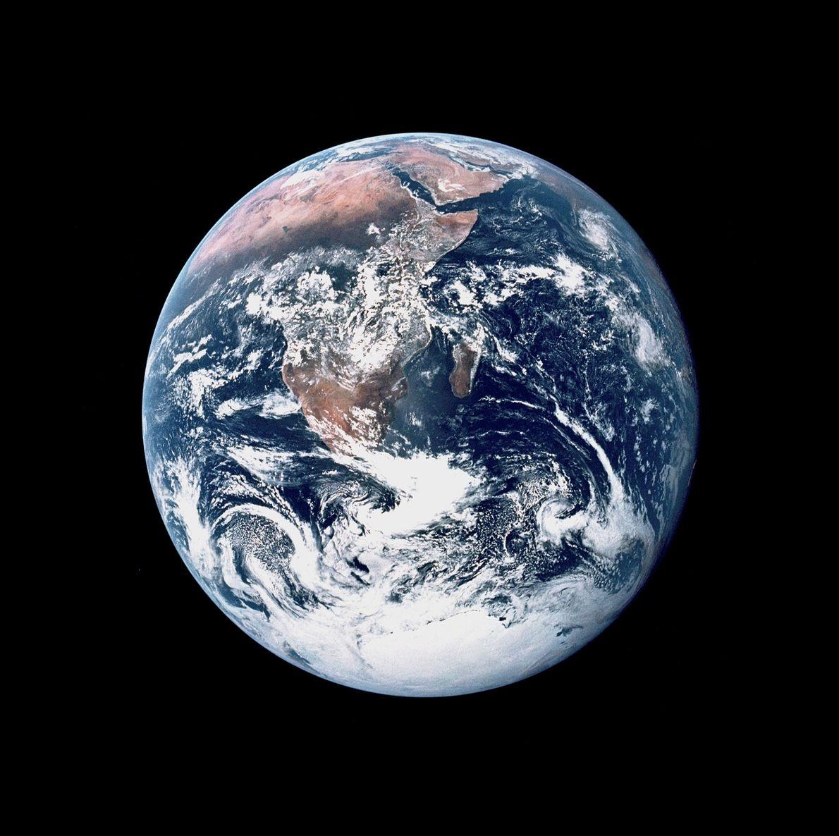 A tripulação da Apollo 17 capturou esta vista da Terra