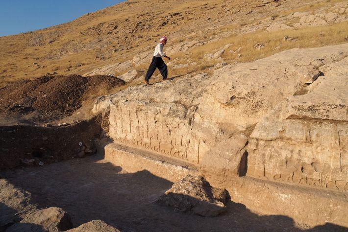 Há cerca de 2.700 anos, este canal fornecia água às quintas que ajudavam a abastecer a ...