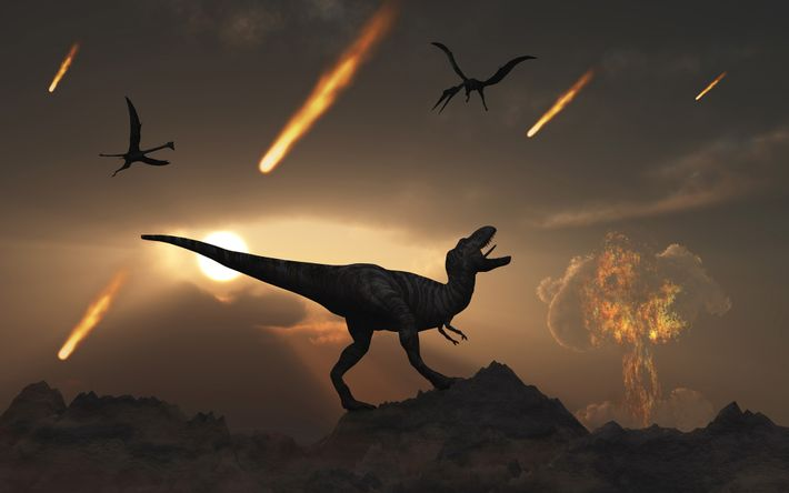 Há 66 milhões de anos, no final do Cretáceo, o impacto de um asteroide gigante em ...