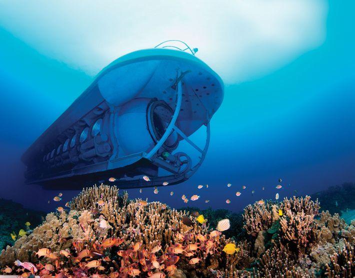 O submarino Atlantis em Kona.