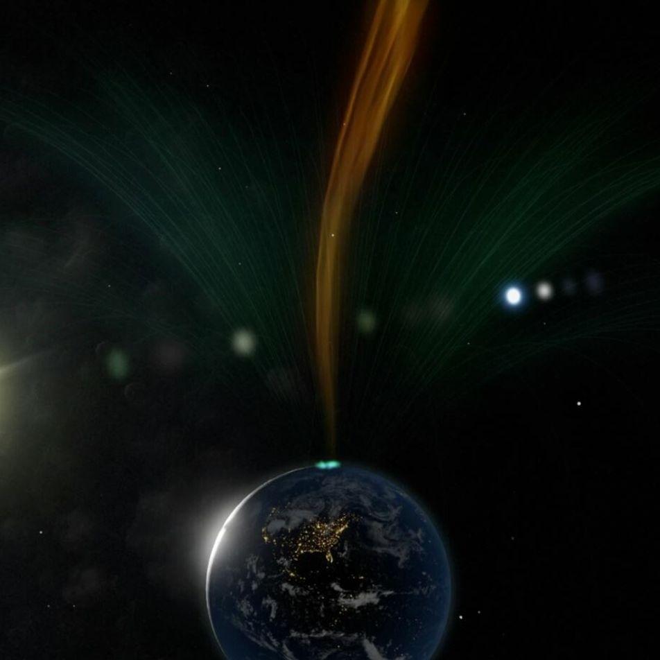 Cientistas avistam 'furacão espacial' pela primeira vez