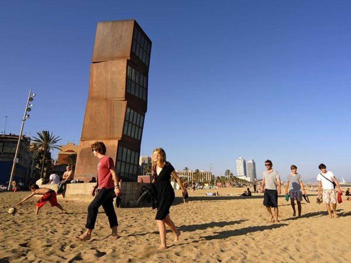 Fotografia: escultura na praia