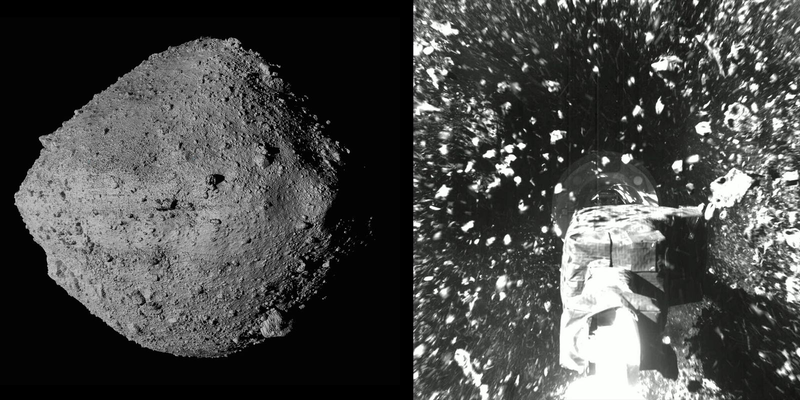 """No dia 20 de outubro, num ambicioso """"jogo da apanhada"""" galáctico, a sonda OSIRIS-REx da NASA ..."""