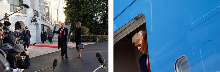 saída de Trump da Casa Branca